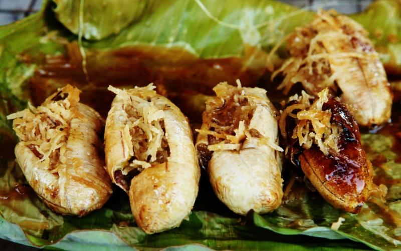 banan z kokosem